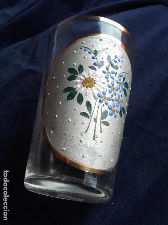Antigüedades: Vaso cristal esmaltado - Foto 7 - 111700275