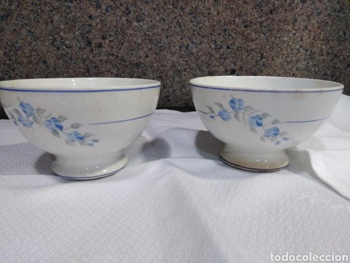 PAREJA DE TANZONES TAZON EN LOZA ANTIGUA (Antigüedades - Porcelanas y Cerámicas - Otras)