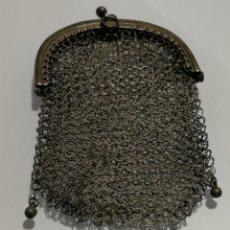Antigüedades: ANTIGUO MONEDERO DE PLATA. Lote 111723718