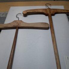 Antigüedades: PERCHAS ANTIGUAS LOTE 2 DE MADERA. Lote 111724131