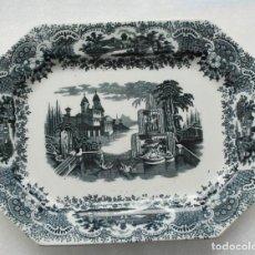 Antigüedades: BANDEJA FUENTE CERAMICA 1870 -1899 PICKMAN & CIA SEVILLA SIGLO XIX LA CARTUJA . Lote 111726751