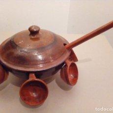 Antiquités: JUEGO COMPLETO PARA HACER QUEIMADA GALLEGA. Lote 111736447