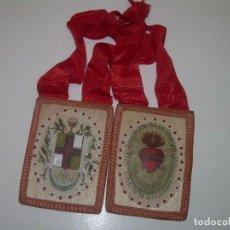 Antigüedades: ANTIGUO Y GRAN ESCAPULARIO DE TELA.. Lote 111792307