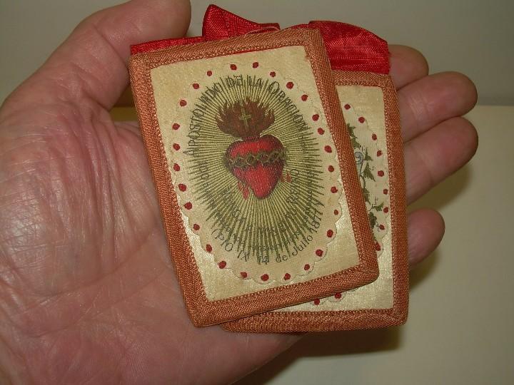 Antigüedades: ANTIGUO Y GRAN ESCAPULARIO DE TELA. - Foto 3 - 111792307