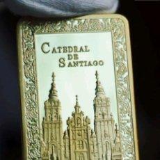 Antigüedades: LINGOTE MONEDA CATEDRAL DE SANTIAGO DE COMPOSTELA CAMINO DE SANTIAGO. Lote 143009594