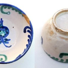 Antiquités: PEQUEÑO CUENCO BOL PLATO DE CERÁMICA DE FAJALAUZA GRANADA. Lote 111816579