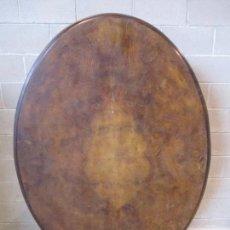 Antigüedades: MESA ABATIBLE, DESAYUNO - VICTORIANA - INGLATERRA - RAÍZ DE MADERA - S. XIX. Lote 180452096