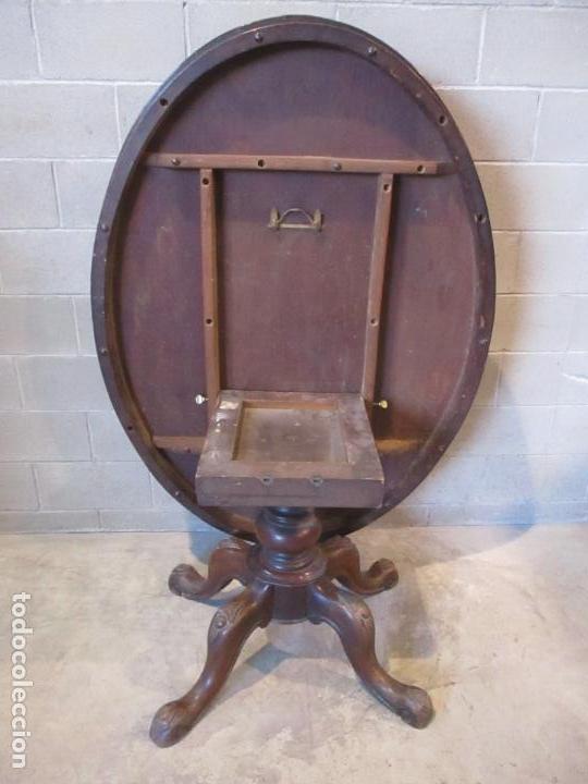 Antigüedades: Mesa Abatible, Desayuno - Victoriana - Inglaterra - Raíz de Madera - S. XIX - Foto 9 - 111839503