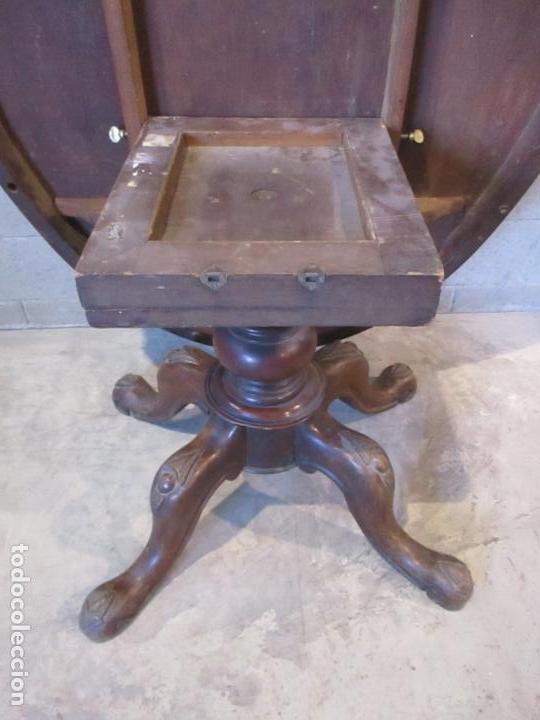 Antigüedades: Mesa Abatible, Desayuno - Victoriana - Inglaterra - Raíz de Madera - S. XIX - Foto 10 - 111839503