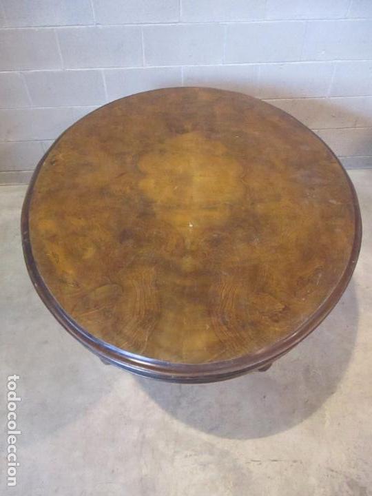Antigüedades: Mesa Abatible, Desayuno - Victoriana - Inglaterra - Raíz de Madera - S. XIX - Foto 13 - 111839503