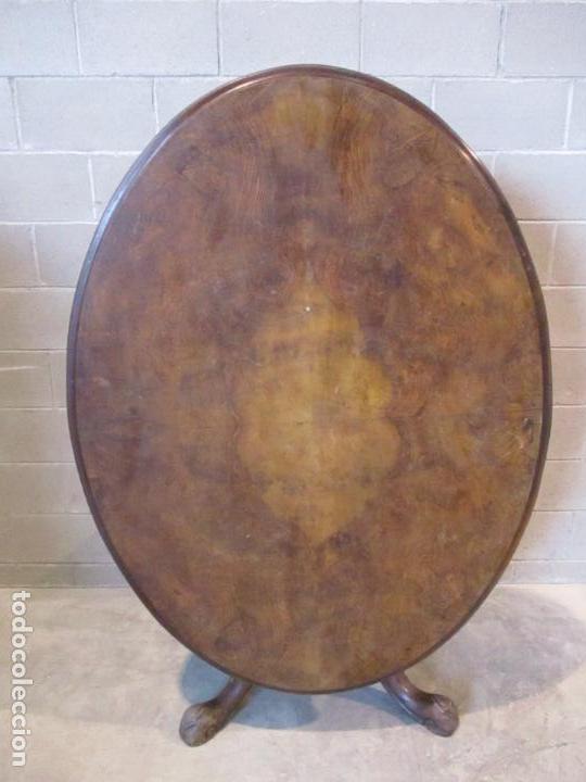 Antigüedades: Mesa Abatible, Desayuno - Victoriana - Inglaterra - Raíz de Madera - S. XIX - Foto 16 - 111839503