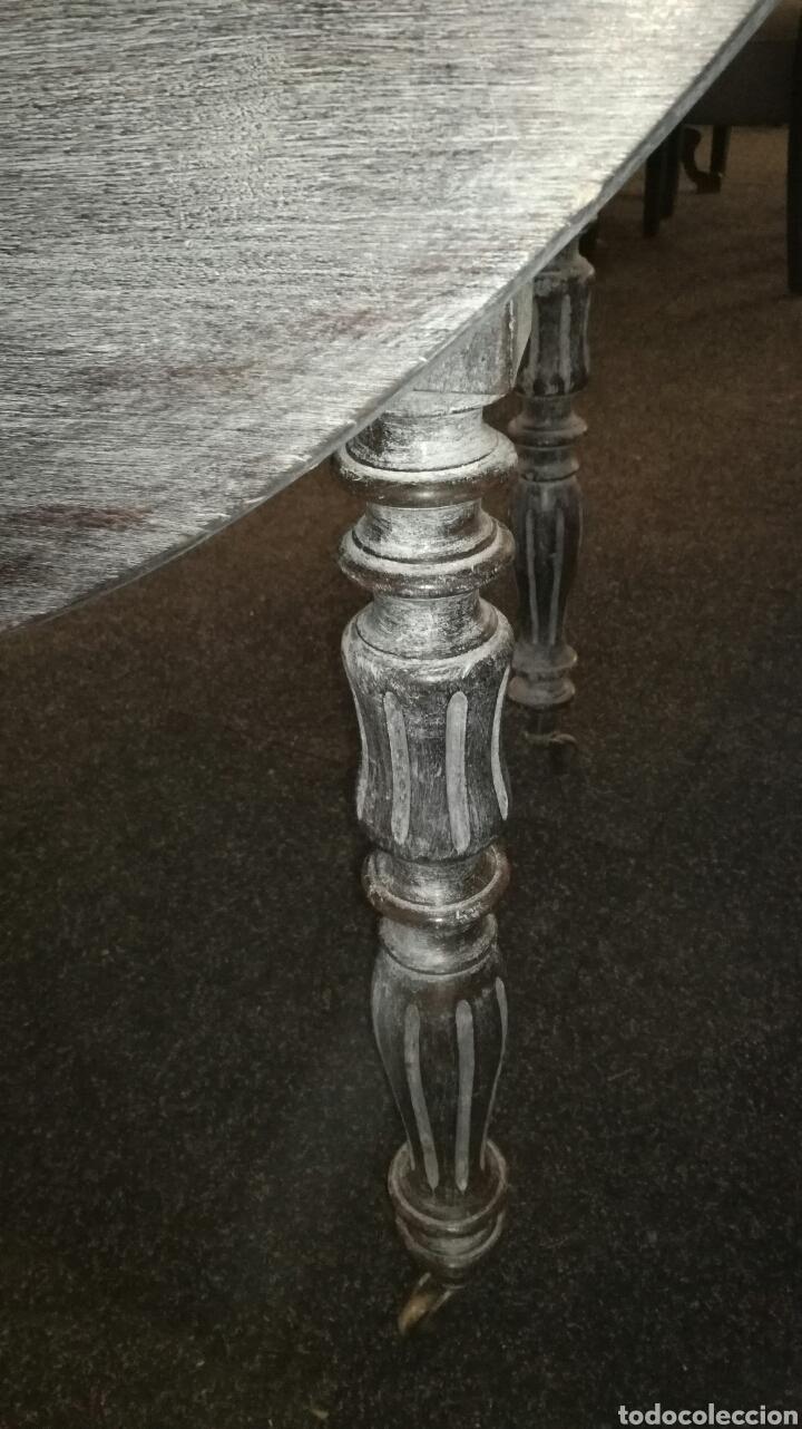 Antigüedades: Mesa de comedor con cera Blanca es de madera. JM/ - Foto 3 - 111843074