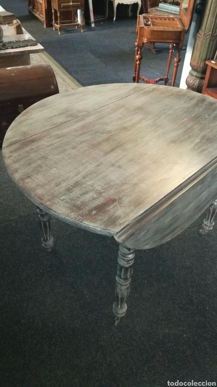 Antigüedades: Mesa de comedor con cera Blanca es de madera. JM/ - Foto 4 - 111843074