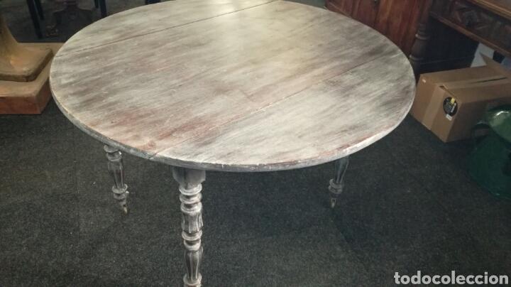 Antigüedades: Mesa de comedor con cera Blanca es de madera. JM/ - Foto 5 - 111843074