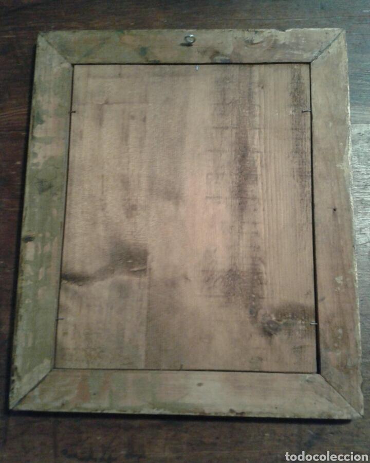 Antigüedades: Antiguo espejo de madera de estuco moldurado y dorado - Vintage - Foto 2 - 47189855