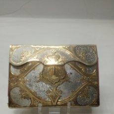 Antigüedades: CARNET DE BAILE EN PLATA DORADA. Lote 111861535