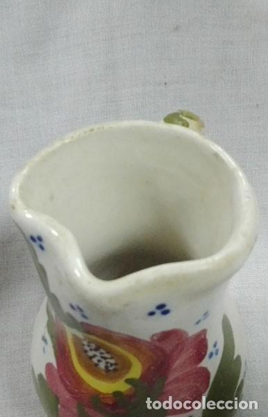 Antigüedades: JARRA CERÁMICA MANISES DECORADA CON FLORES - Foto 3 - 111863951