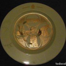 Antigüedades: PLATO DE PORCELANA ASSOCIACIO CULTURAL GENT GRAN. TARRAGONA PATRIMONI MUNDIAL. Lote 111865307