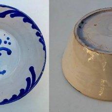 Antigüedades: CUENCO FUENTE PLATO DE CERÁMICA DE FAJALAUZA GRANADA. Lote 111882935