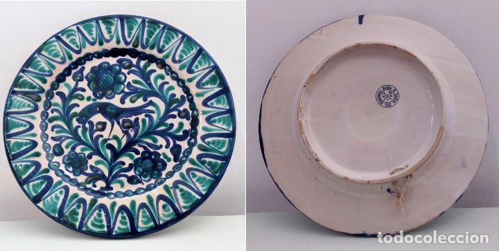 PLATO DE CERÁMICA DE FAJALAUZA GRANADA SELLO CERÁMICA ARABE S. ISIDRO (Antigüedades - Porcelanas y Cerámicas - Fajalauza)