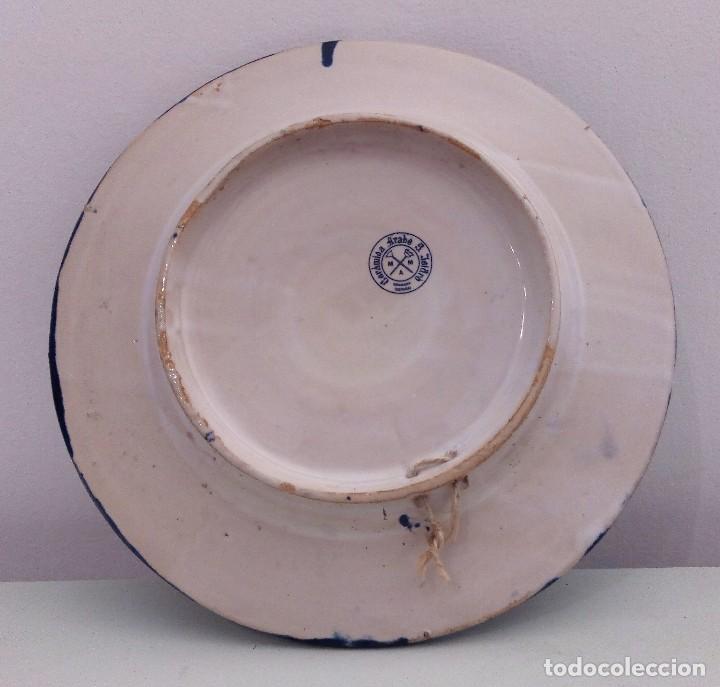 Antigüedades: PLATO DE CERÁMICA DE FAJALAUZA GRANADA SELLO CERÁMICA ARABE S. ISIDRO - Foto 3 - 111884439