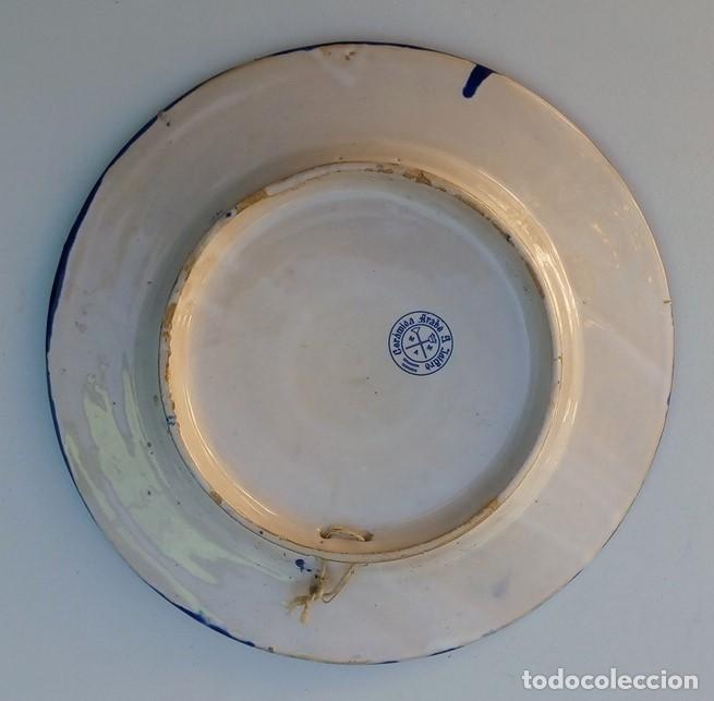 Antigüedades: PLATO DE CERÁMICA DE FAJALAUZA GRANADA SELLO CERÁMICA ARABE S. ISIDRO - Foto 5 - 111884439