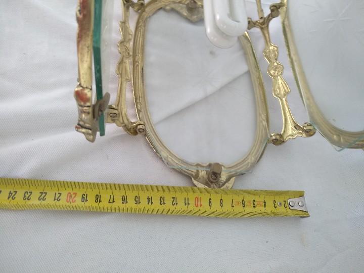 Antigüedades: LAMPARA FAROL MEDIANO EN BRONCE CON CRISTALES TALLADOS. COMPLETO, FUNCIONA - Foto 8 - 111900023