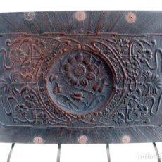 Antigüedades: RESPALDOS Y CULO DE CUERO PARA SILLA. Lote 111922043