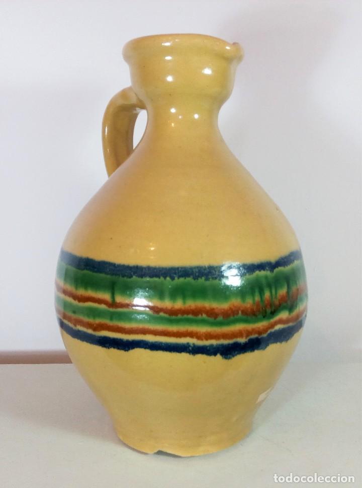 BONITA PERULA O CANTARO DE CERÁMICA VIDRIADA DE LUCENA - CÓRDOBA - ALTURA 30 CM. (Antigüedades - Porcelanas y Cerámicas - Lucena)