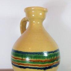 Antigüedades: BONITA PERULA O CANTARO DE CERÁMICA VIDRIADA DE LUCENA - CÓRDOBA -. Lote 111922219