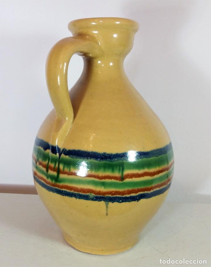 Antigüedades: BONITA PERULA O CANTARO DE CERÁMICA VIDRIADA DE LUCENA - CÓRDOBA - ALTURA 30 CM. - Foto 3 - 111922219