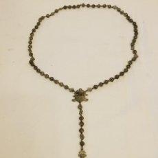 Antigüedades: ROSARIO FILIGRANA TODO DE PLATA. SIGLO XIX. Lote 111923231