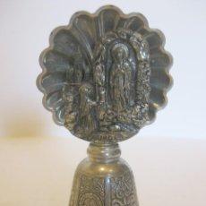Antigüedades: CAMPANILLA EN MINIATURA MONASTERIO DE LOURDES. Lote 111937707