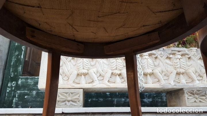 Antigüedades: CONJUNTO DE 3 SILLONES. MADERA DE NOGAL. ESTILO FERNANDINO. ESPAÑA. SIGLO XIX. - Foto 7 - 111953763