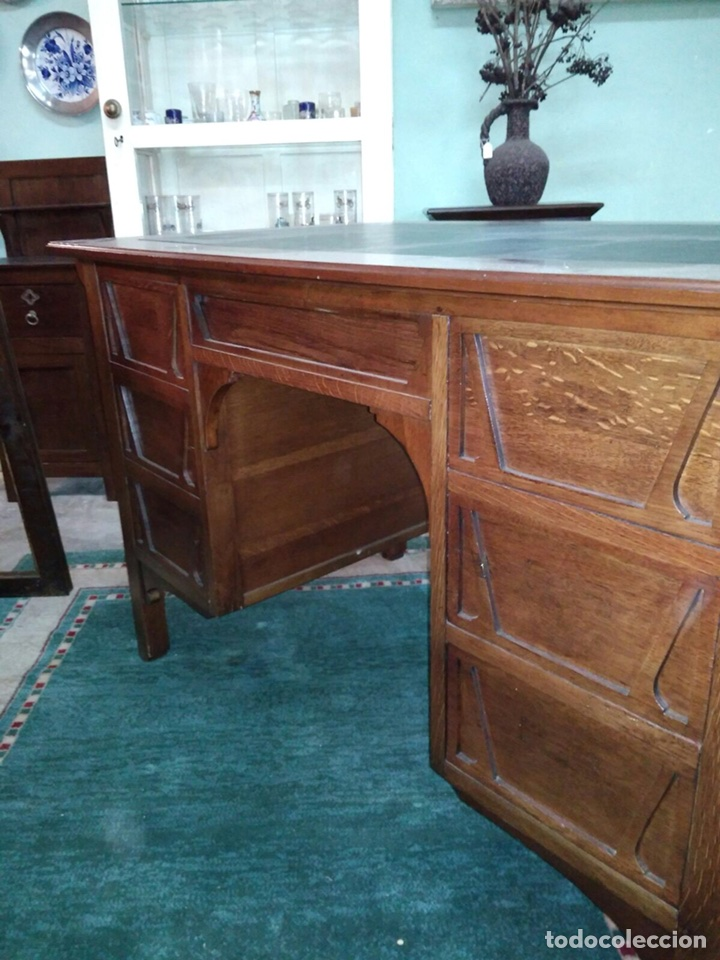 Antigüedades: Mesa de despacho MODERNISTA - Foto 3 - 41431138