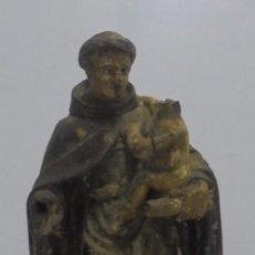 Antigüedades: ANTIGUA TALLA. SAN ANTONIO DE PADUA. DE MADERA. 28CM ALTO. VER FOTOS. SIGLO XVII - XVIII. Lote 111970867