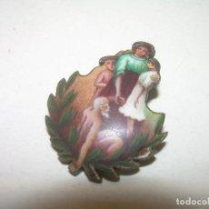 Antigüedades: ANTIGUA MEDALLA DE PLATA ESMALTADA.. Lote 111991135
