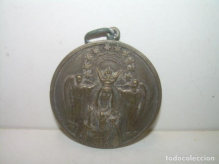 ANTIGUA MEDALLA DE BRONCE.....GRAN TAMAÑO. (Antigüedades - Religiosas - Medallas Antiguas)