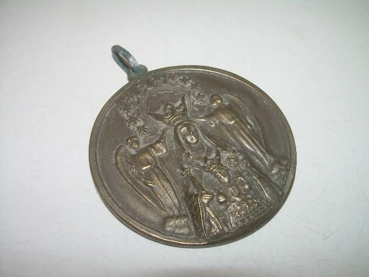 Antigüedades: ANTIGUA MEDALLA DE BRONCE.....GRAN TAMAÑO. - Foto 2 - 111992311