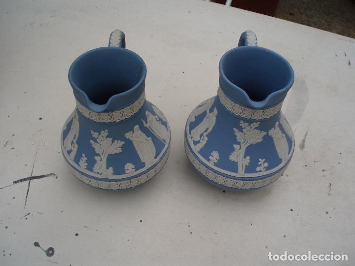 PAREJA JARRAS WEDGWOOD (JASPER WARE) (Antigüedades - Porcelanas y Cerámicas - Inglesa, Bristol y Otros)