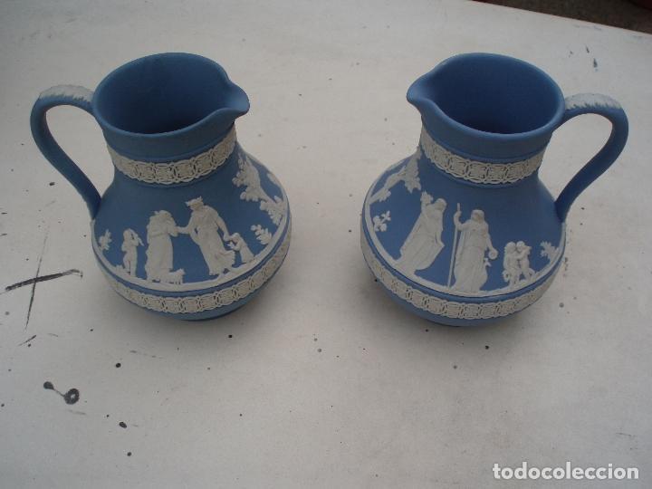 Antigüedades: Pareja jarras Wedgwood (Jasper ware) - Foto 3 - 112000287