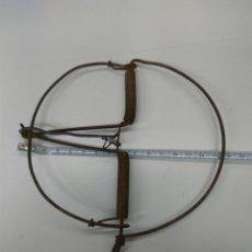 Antigüedades: CEPO TRAMPA GRANDE 16 CMS. Lote 112031168