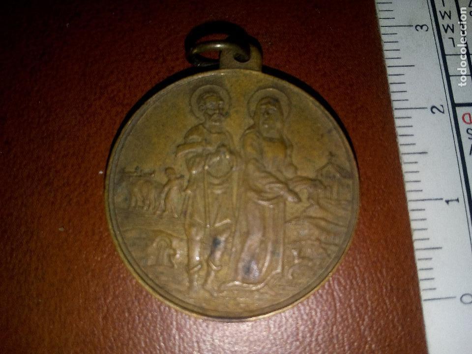 SAN ISIDRO LABRADOR. ANTIGUA MEDALLA (Antigüedades - Religiosas - Medallas Antiguas)