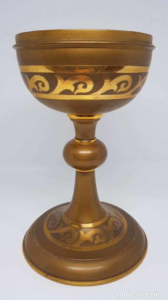 COPÓN EN METAL DORADO (Antigüedades - Religiosas - Artículos Religiosos para Liturgias Antiguas)