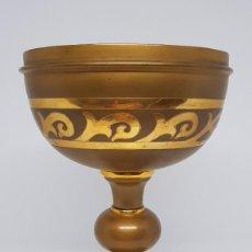 Antigüedades: COPÓN EN METAL DORADO . Lote 112060651