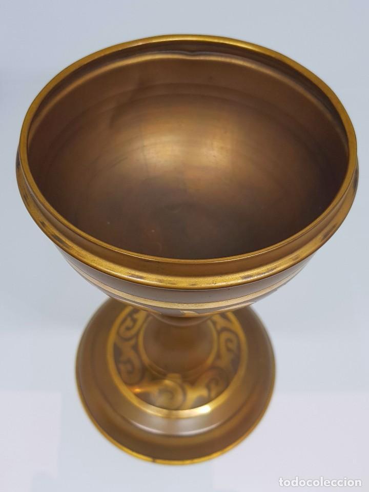 Antigüedades: Copón en metal dorado - Foto 3 - 112060651