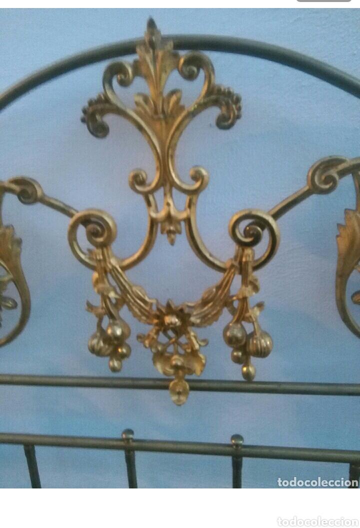 Antigüedades: Cabecero dorado isabelino de 150 - Foto 3 - 112091752