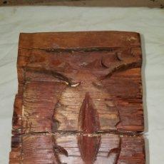 Antigüedades: TROZO DE VIGA TALLADO. Lote 112105212