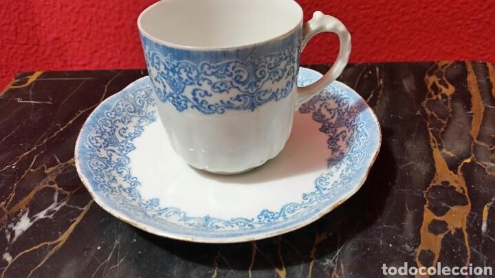 Antigüedades: Antiguo pocillo y plato de Limoges - Foto 2 - 112131464