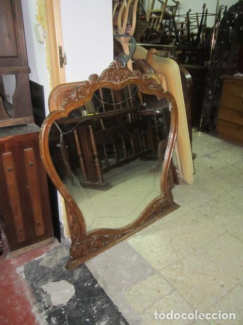 Espejo grande de madera talla antiguo de c moda comprar - Espejos grandes segunda mano ...